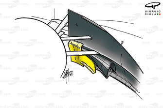 McLaren MP4-16 bargeboard