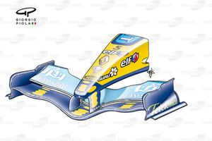 Renault R25 front wing & nose