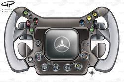 McLaren MP4-23 2008 steering wheel
