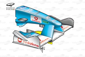 Benetton B201 2001 front wing