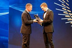 Tom Kristensen and Rookie of the Year Kevin Hansen, Peugeot Hansen Academy
