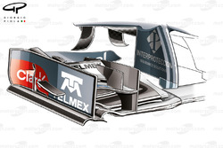 Sauber C33 front wing, new endplate and cascade design