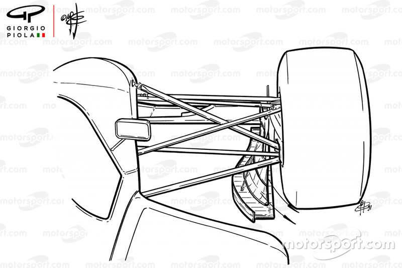 Endplate del ala delantera del Williams FW14 1991