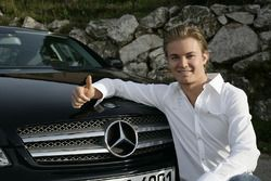 Nico Rosberg, signing for the Mercedes AMG F1 - November 2009
