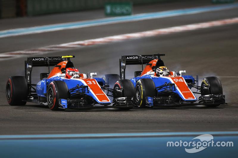 O time de Pascal Wehrlein e Esteban Ocon foi o último colocado, com seus carros se estranhando na última prova.