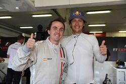 F1 Experiences 2-Seater passenger Frankie Muniz, Actor and Patrick Friesacher, F1 Experiences 2-Seat