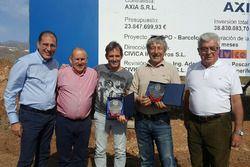Walter Sciacca, direttore generale del circuito, Carlos Gaztañaga e Benito Rodríguez, presidenti del