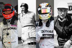 Los pilotos de Mercedes en F1