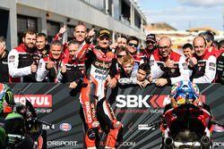 Pole sitter Chaz Davies, Ducati Team