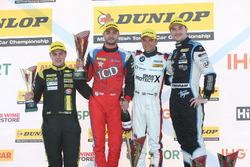 Podium: 1. Colin Turkington, West Surrey Racing, BMW 125i M Sport; 2. Tom Ingram, Speedworks Motorsp