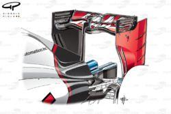 Haas VF-16. ala posteriore per il GP d'Italia