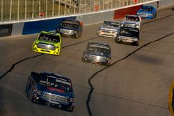 Christopher Bell, Kyle Busch Motorsports Toyota leads Matt Crafton, ThorSport Racing Toyota and Kyle