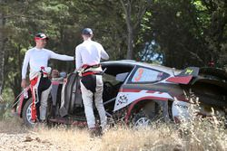 Elfyn Evans, Daniel Barritt, Ford Fiesta WRC, M-Sport after crash