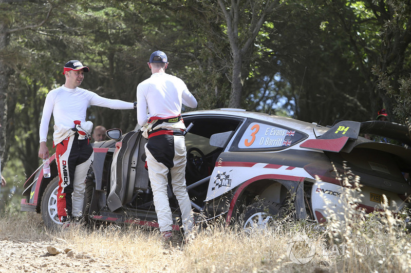 Elfyn Evans, Daniel Barritt, Ford Fiesta WRC, M-Sport dopo l'incidente
