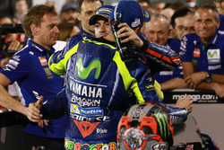 Race winner Maverick Viñales, Yamaha Factory Racing, third place Valentino Rossi, Yamaha Factory Racing