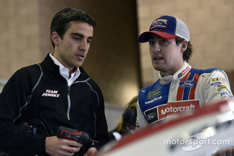 Ryan Blaney, Wood Brothers Racing Ford y Travis Geisler
