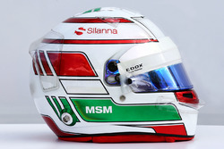 Le casque de Antonio Giovinazzi, Sauber