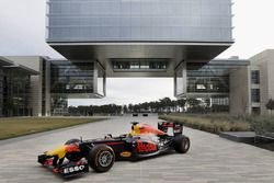 Red Bull RB7 at the ExxonMobil headquarters