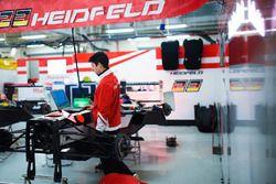 Mahindra Racing mechanics at work
