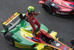 Winner Lucas di Grassi, ABT Schaeffler Audi Sport in parc ferme