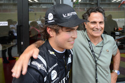 Winner Pedro Piquet with Nelson Piquet