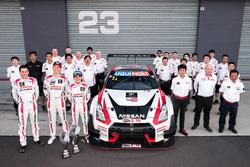 Second place Rick Kelly, Katsumasa Chiyo, Florian Strauss, Nissan Motorsports