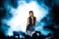 Taylor Swift, Singer, performs a concert at COTA