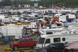 NASCAR-Fans am Michigan International Speedway