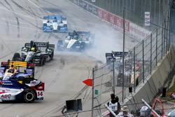 James Hinchcliffe, Schmidt Peterson Motorsports Honda, Max Chilton, Chip Ganassi Racing Chevrolet, c