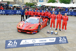 Билл Суидлер, Джефф Сигал, Таунсенд Белл, #62 Scuderia Corsa Ferrari 458 Italia