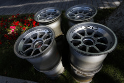 OZ Racing wheel rims in the paddock