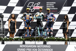 Podium: Race winner Joan Mir, Leopard Racing, KTM; second place Brad Binder, Red Bull KTM Ajo, KTM;