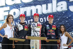 Podium: Race winner Joel Eriksson, Motopark Dallara F316 – Volkswagen; second place Callum Ilott, Va