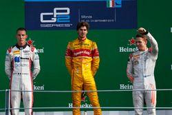Podio: Antonio Giovinazzi, PREMA Racing Raffaele Marciello, RUSSIAN TIME and Gustav Malja, Rapax