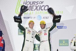 LM GTE Pro podium: first place Richie Stanaway, Darren Turner, Aston Martin Racing