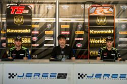 Tom Sykes, Kawasaki Racing, Yoshimoto Matsuda, Jonathan Rea, Kawasaki Racing