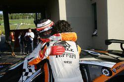 Mirko Venturi e Stefano Gai, Black Bull Swisse Racing festeggiano la vittoria di Gara1 Super GT3