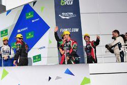 Podium LMP2: tweede plaats #43 RGR Sport by Morand Ligier JSP2 - Nissan: Ricardo Gonzalez, Filipe Al