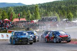 Timmy Hansen, Team Peugeot Hansen and Andreas Bakkerud, Hoonigan Racing Division