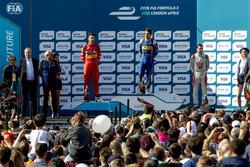 Николя Прост, Renault e.Dams; Даниэль Абт, ABT Schaeffler Audi Sport; Жером д'Амброзио, Dragon Racin