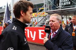 Jolyon Palmer, Renault Sport F1 Team et Martin Brundle, sur la grille