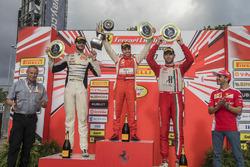 Trofeo Pirelli podium: winner Daniel Mancinelli, second place Cooper MacNeil, third place Martin Fue