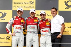 Podium: Race winner Edoardo Mortara Audi Sport Team Abt Sportsline, Audi RS 5 DTM; second place Jami