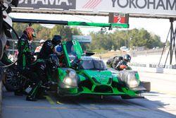 #2 Tequila Patrón ESM Ligier JS P2: Scott Sharp, Johannes van Overbeek, Luis Felipe Derani, pit action