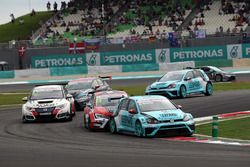 Stefano Comini, Volkswagen Golf GTI TCR, Leopard Racing ve James Nash, Seat Leon Team Craft-Bamboo