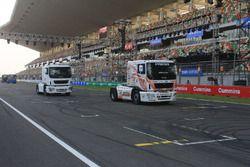 Tata Prima trucks in action