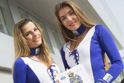 De charmantes Grid Girls