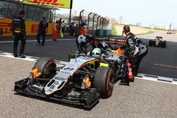 Nico Hulkenberg, Sahara Force India F1 VJM09 sur la grille