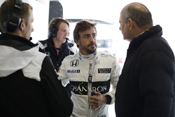 Fernando Alonso, McLaren avec Ron Dennis, président de McLaren