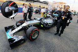 Une écope de frein de la Mercedes AMG F1 Team W07